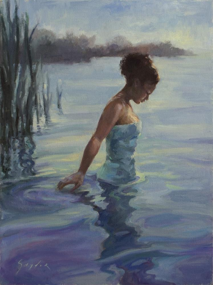 """Tranquil Blue"" original fine art by Julie Snyder"