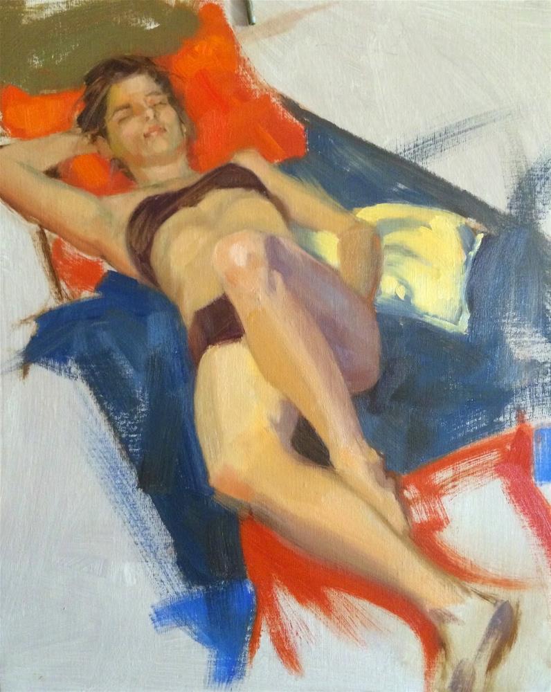 """David Shevlino's workshop, day 1"" original fine art by Claudia Hammer"