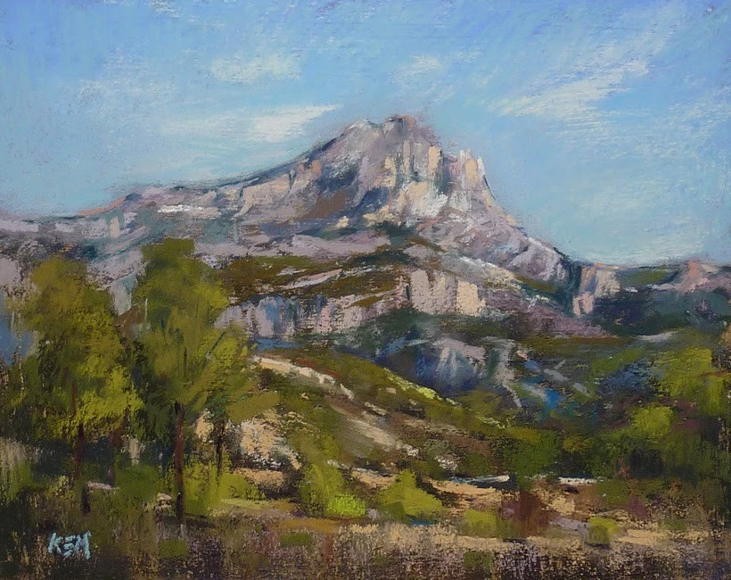 """Try this Fun Challenge! Paint Mont Sainte-Victoire!"" original fine art by Karen Margulis"