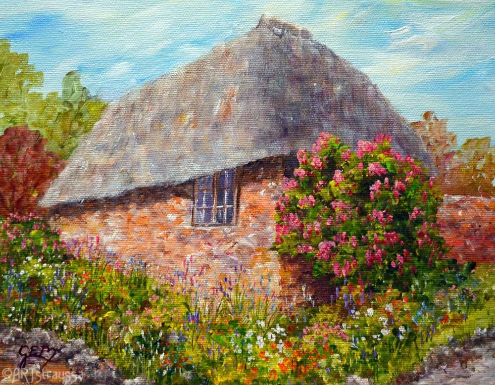 """Abbotsbury"" original fine art by Gloria Ester"