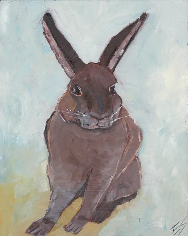 """Rabbit"" original fine art by Elizabeth See"