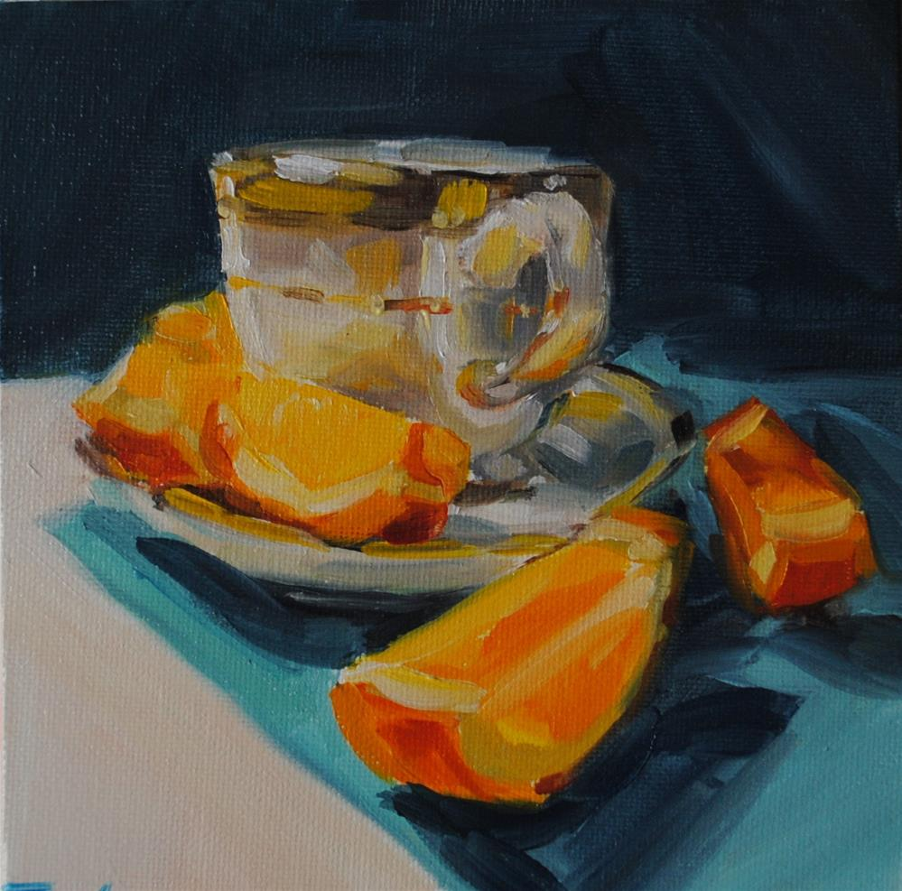 """Orange Slices 036"" original fine art by Tamanda Elia"