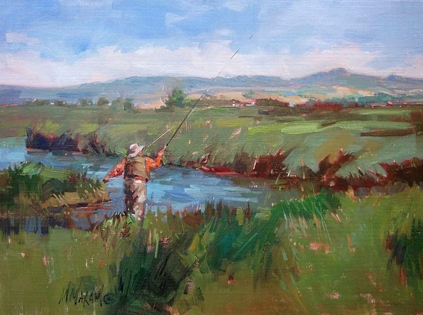 """Montana Spring Creek"" original fine art by Mary Maxam"