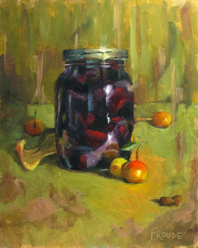 """""""Crab apples"""" original fine art by Dave Froude"""