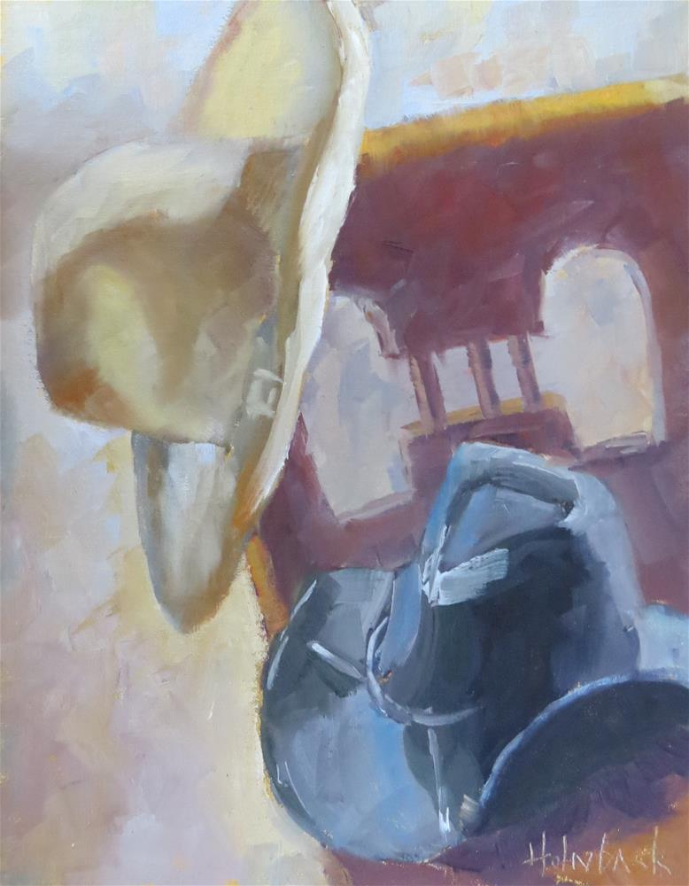 """Cowboy Hats"" original fine art by Pam Holnback"
