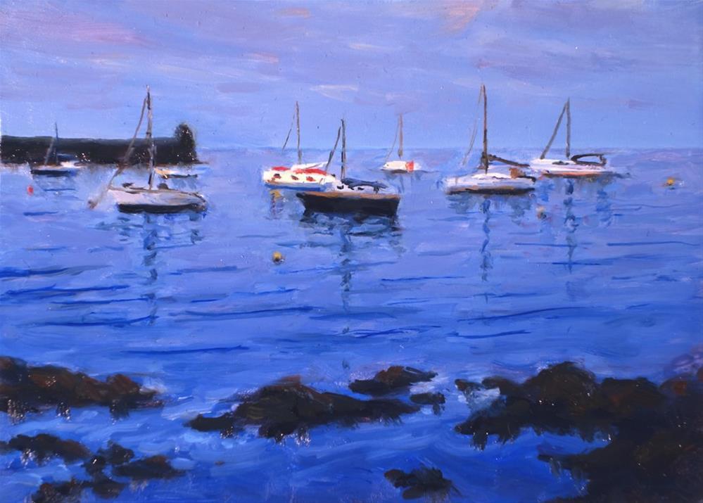 """Boats at Collioure France"" original fine art by Daniel Fishback"