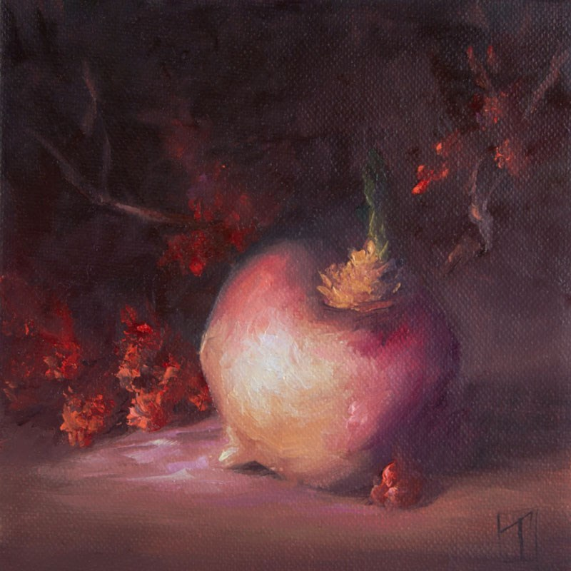 """Turnip Study 1"" original fine art by Lori Twiggs"