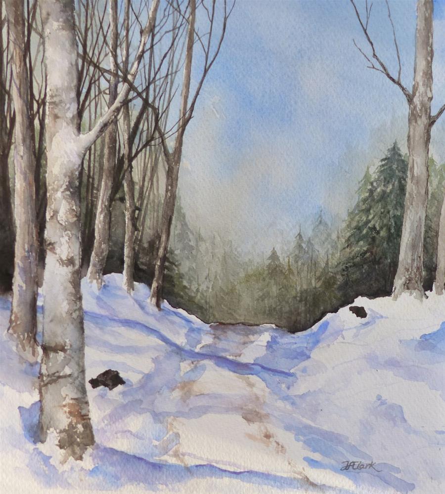 """Snow Path"" original fine art by Judith Freeman Clark"