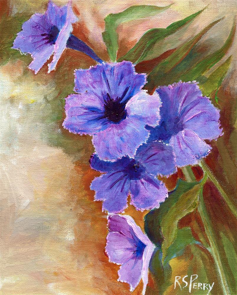 """Wild Petunia"" original fine art by R. S. Perry"