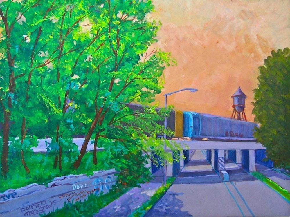"""""""Trumbull Street Underpass"""" original fine art by Patricia Musgrave"""