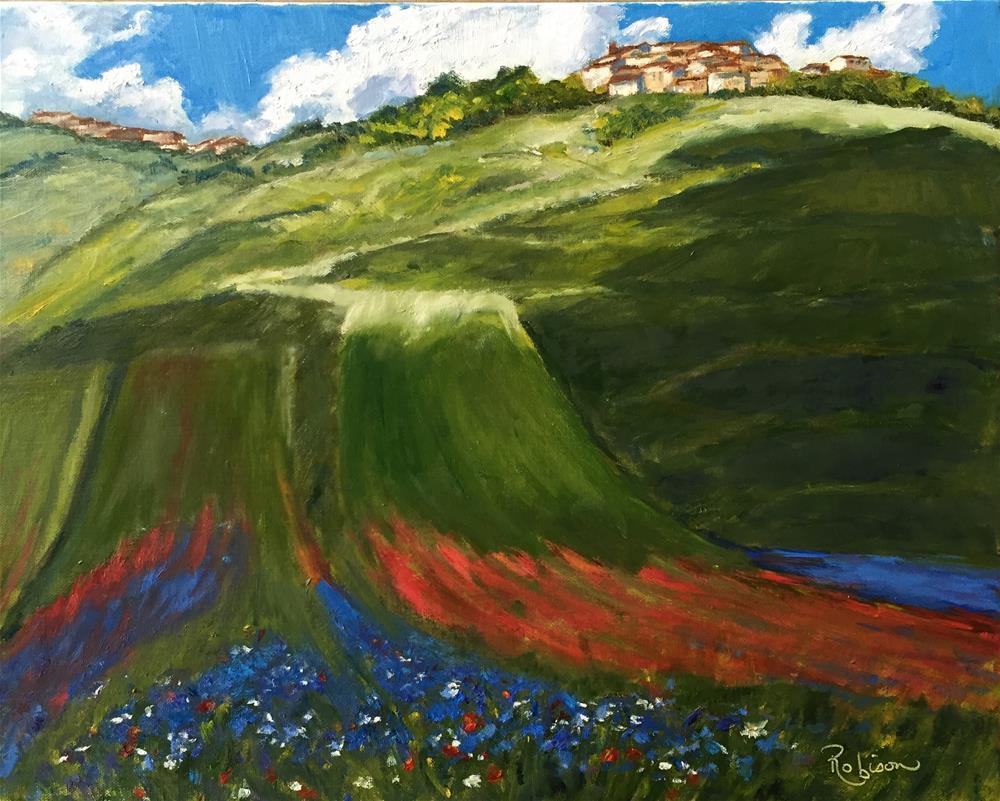 """Wildflower Melange"" original fine art by Renee Robison"