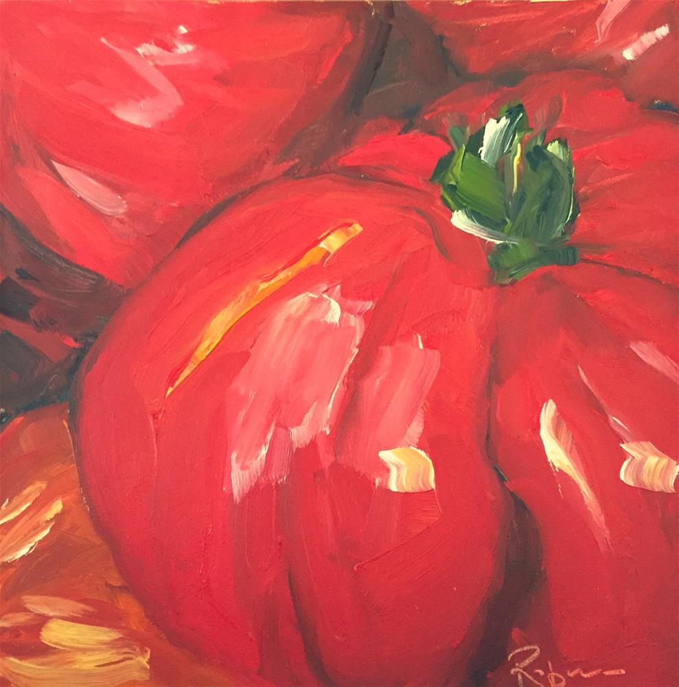 """French Market Tomato"" original fine art by Renee Robison"