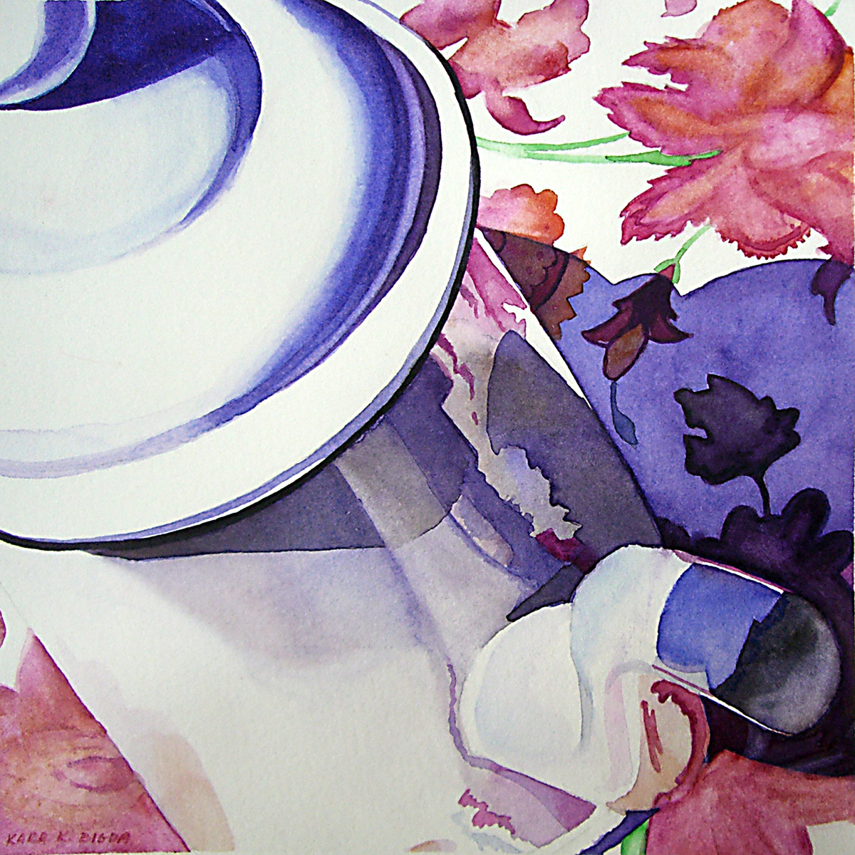 """Coffee Pot Abstract?"" original fine art by Kara K. Bigda"