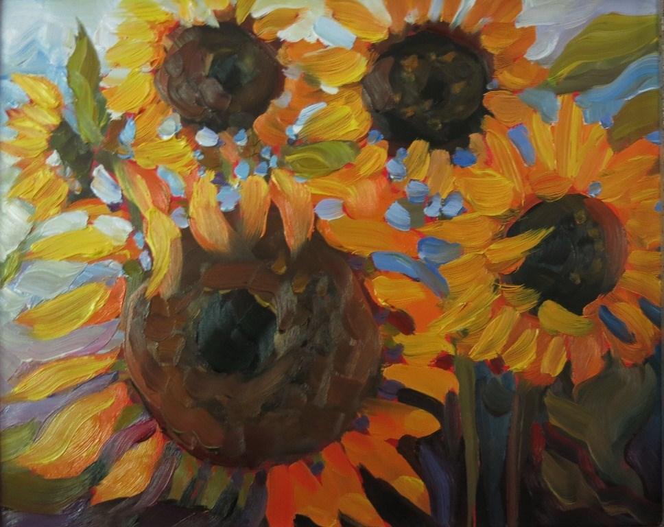 """AMONG THE BEES"" original fine art by Dee Sanchez"