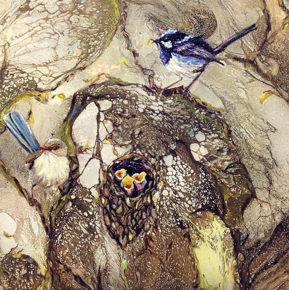 """""""Superb Fairy Wrens 1"""" original fine art by Sunny Avocado"""