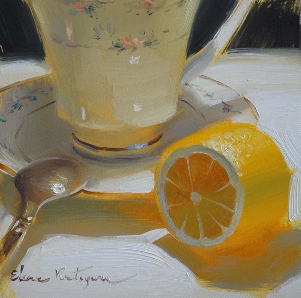 """""""Lemon Royalty"""" original fine art by Elena Katsyura"""