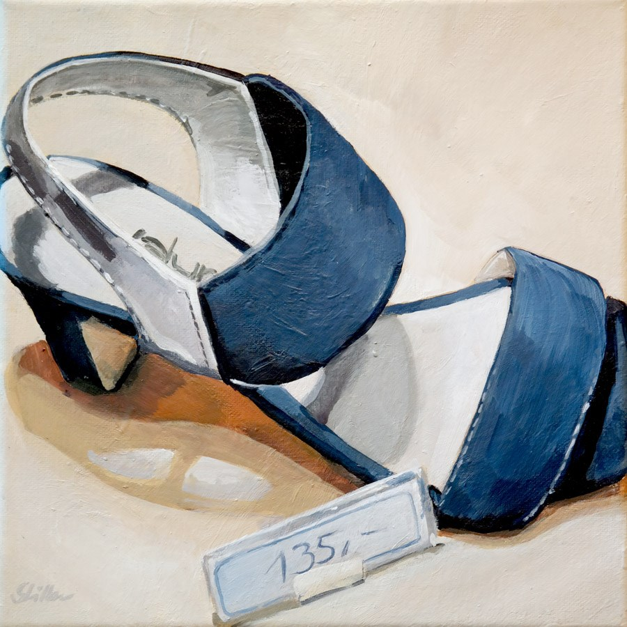 """""""1679 One hundred and thirty Euro shoes"""" original fine art by Dietmar Stiller"""