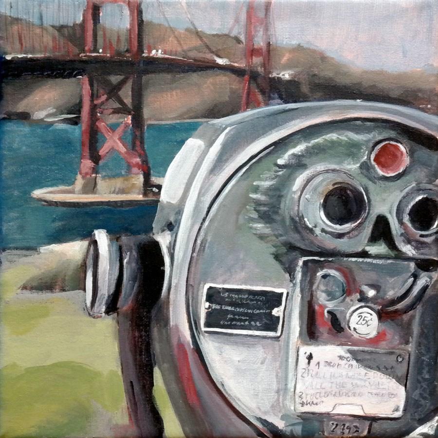 """""""1306 Turn to clear Vision"""" original fine art by Dietmar Stiller"""