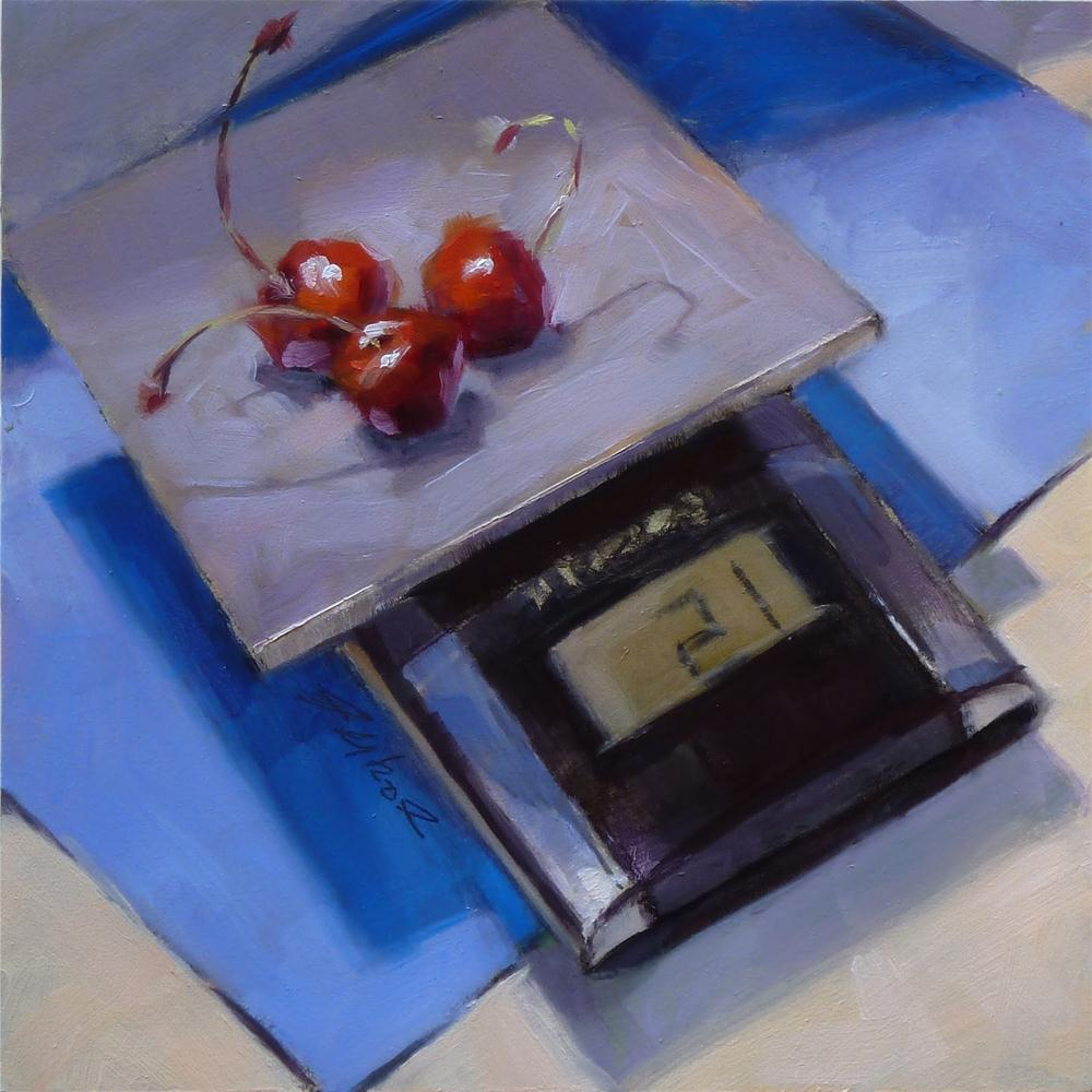 """21 Grams of Cherries"" original fine art by Ron Ferkol"
