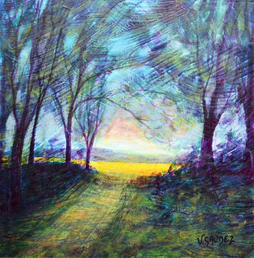 """""""Summer in Ardennes (Autry)"""" original fine art by Véronique Saudez"""