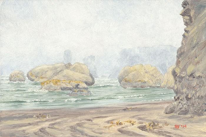 """C1559 Lost in the Mist"" original fine art by Steven Thor Johanneson"