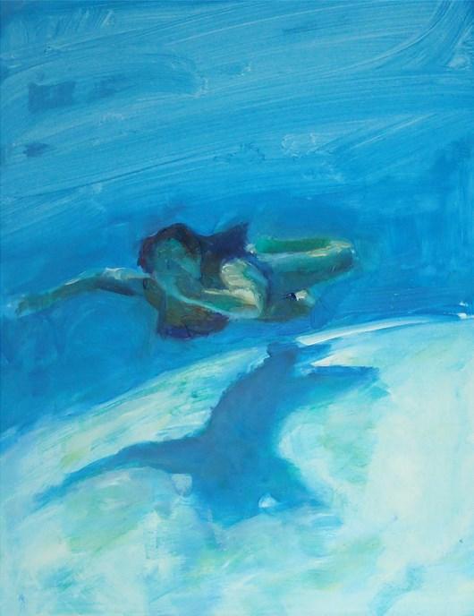 """""""Underwater Swimmer"""" original fine art by Sharon Savitz"""
