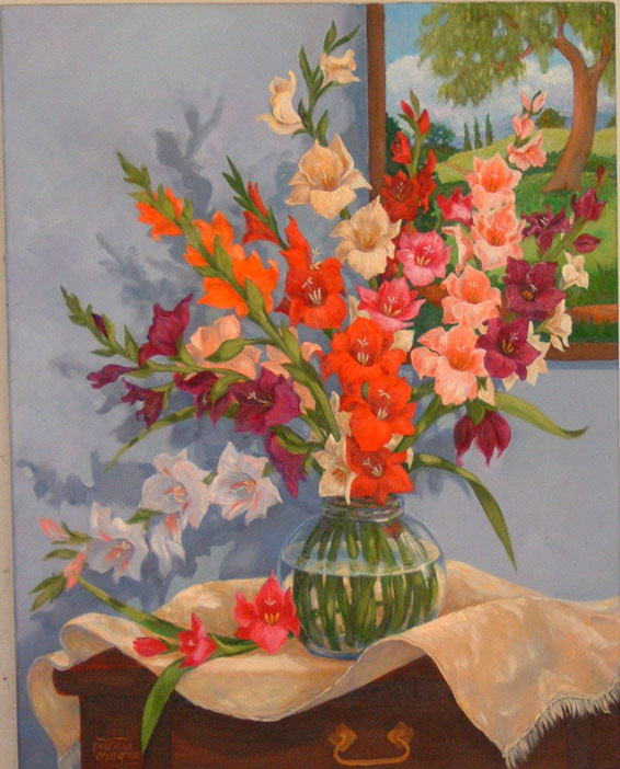 """Glad Bouquet"" original fine art by Patricia Musgrave"