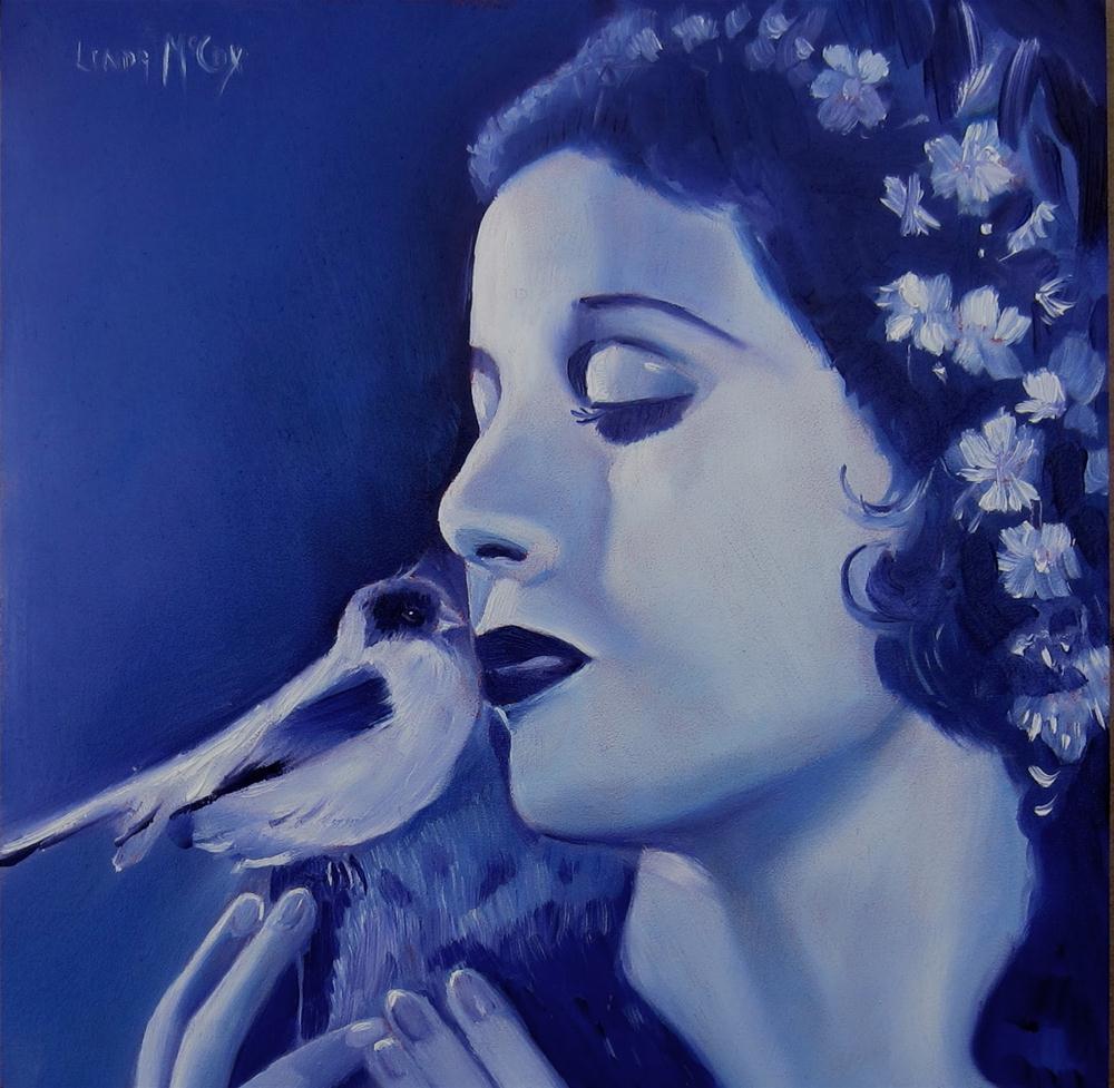 """Loretta Young, Oil Painting by Linda McCoy"" original fine art by Linda McCoy"