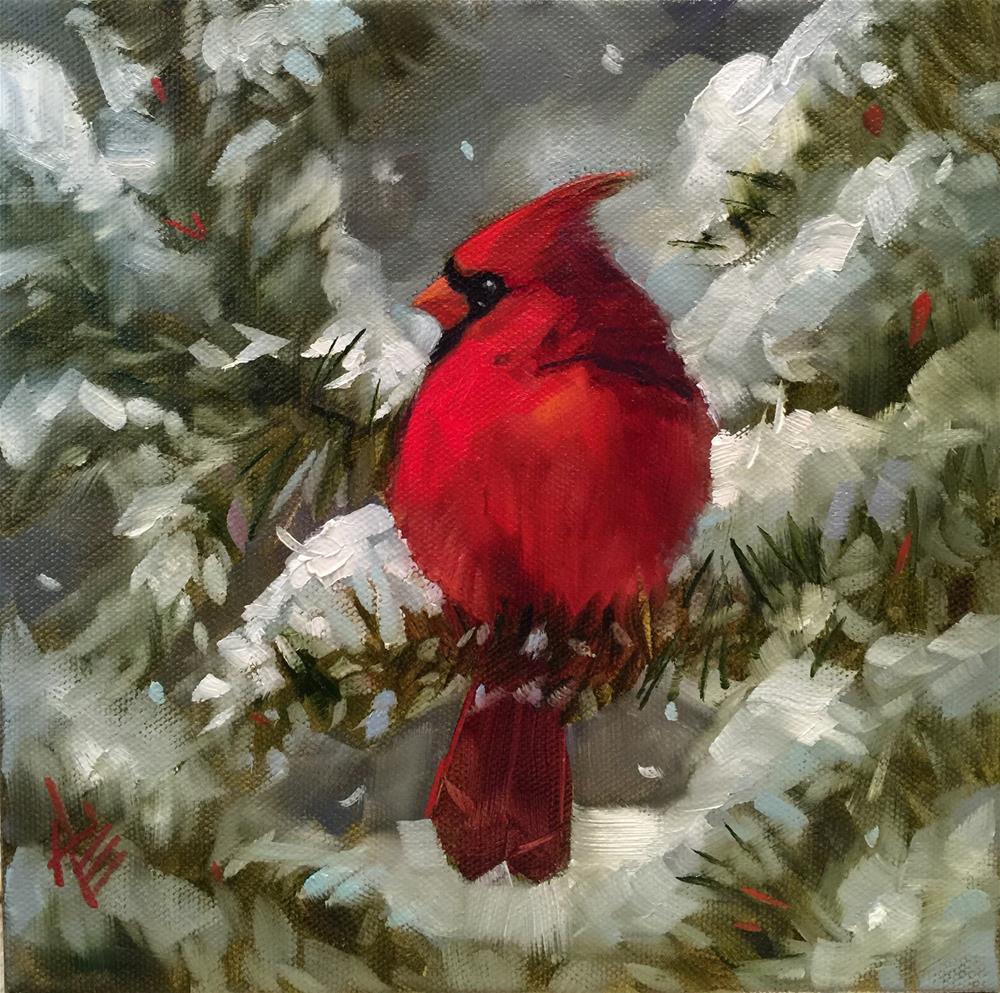 """""""Winter Beauty"""" original fine art by Krista Eaton"""