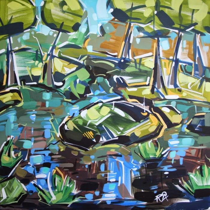 """Landscape Exploration 13"" original fine art by Roger Akesson"