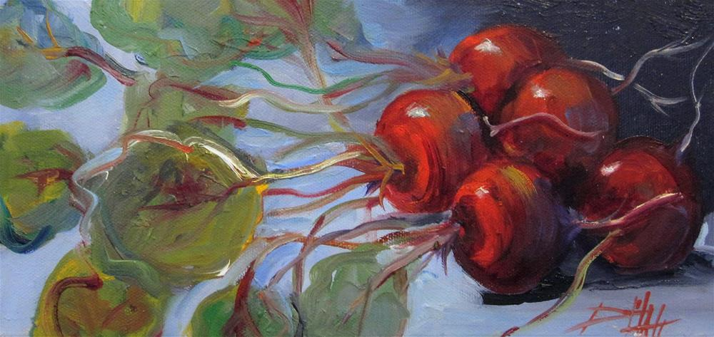 """""""Red Beets"""" original fine art by Delilah Smith"""