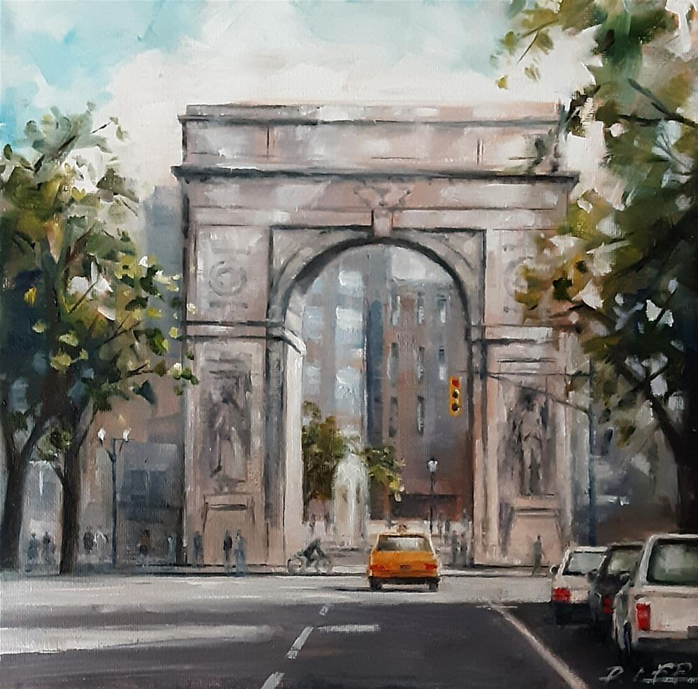 """Washington Square Arch NYC"" original fine art by Peter Lee"