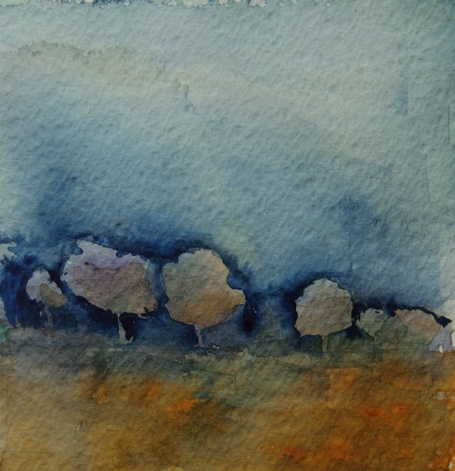 """Golden Trees x2"" original fine art by Amy Bryce"