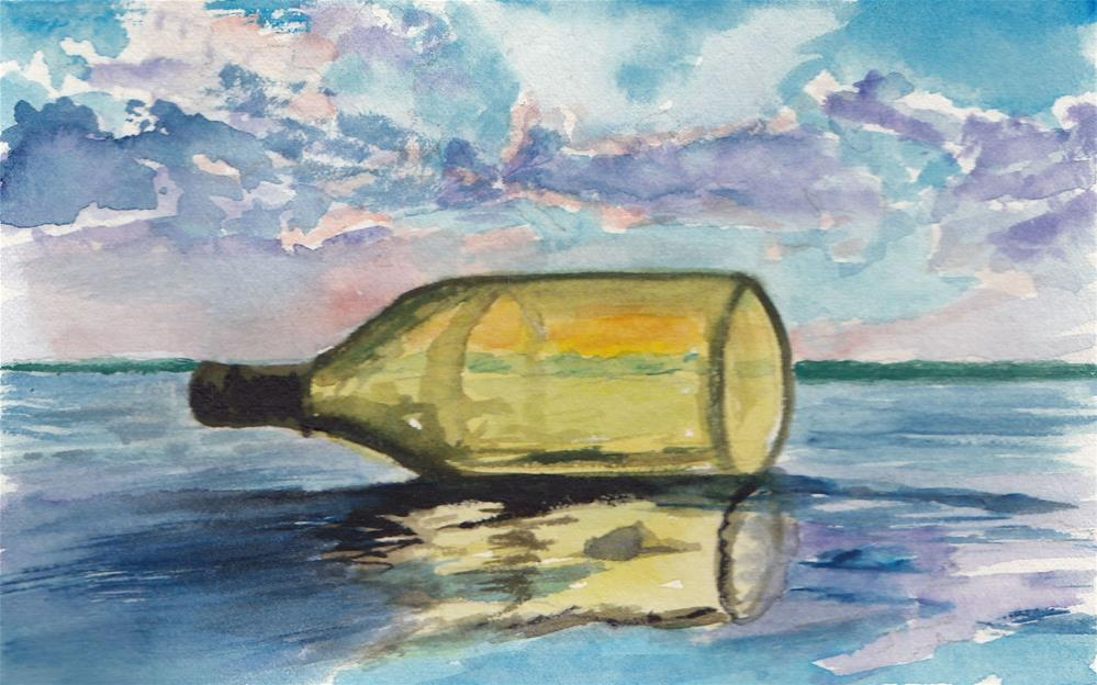 """Message in a Bottle"" original fine art by Bunny Griffeth"
