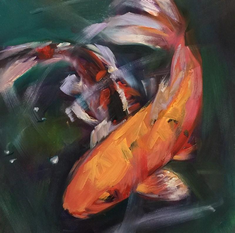 """California Koi"" original fine art by Patti McNutt"