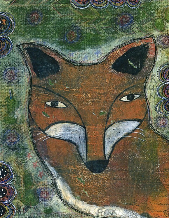 """Fox"" original fine art by Sonja Sandell"