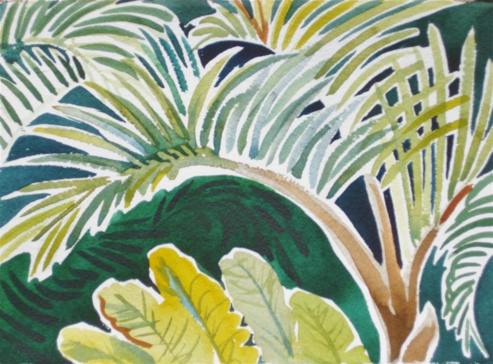 """Palm Frond"" original fine art by Priscilla Bohlen"