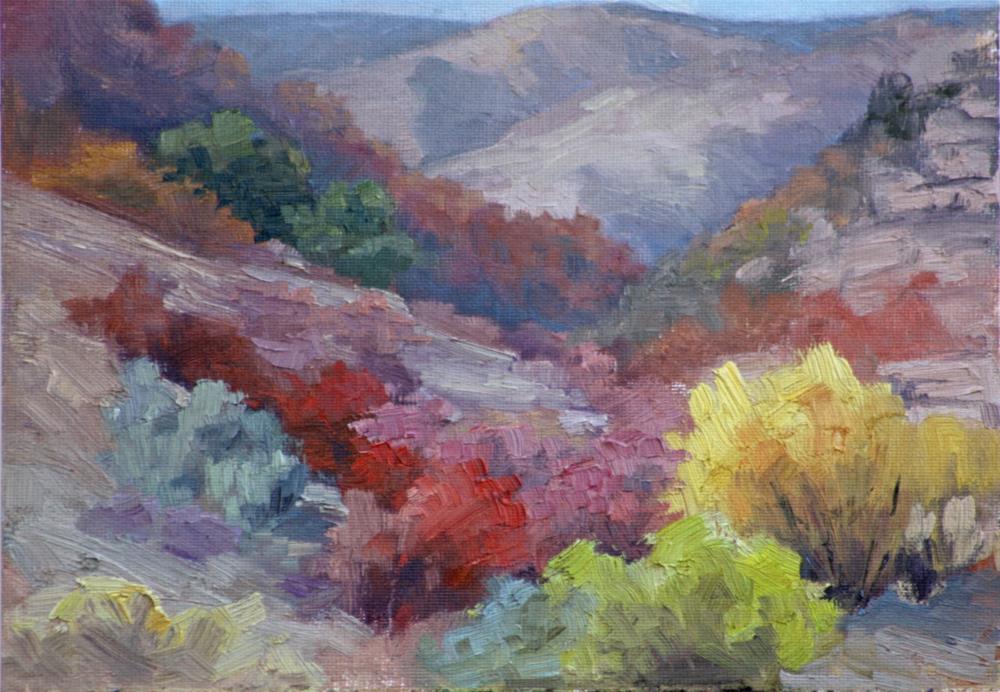 """""""Brush Fire"""" original fine art by Sheila Marie"""