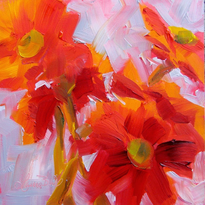 """Red"" original fine art by Laura  Buxo"