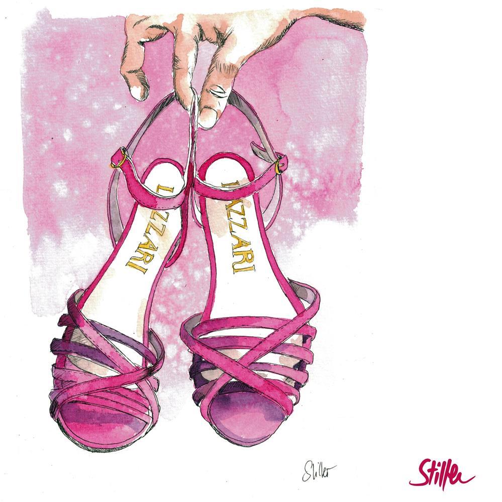 """""""3690 Goddess of Shoes"""" original fine art by Dietmar Stiller"""