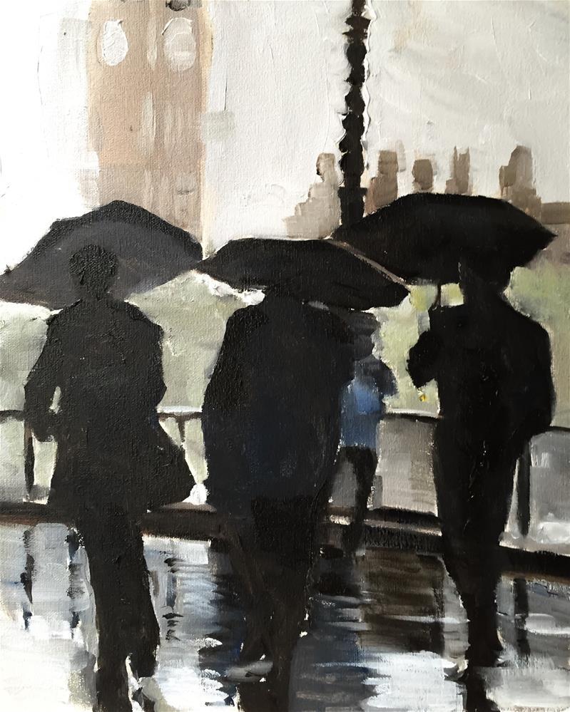 """London Rain"" original fine art by James Coates"