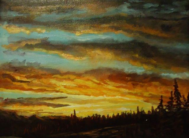 """Sunset near Faro"" original fine art by Jackie Irvine"