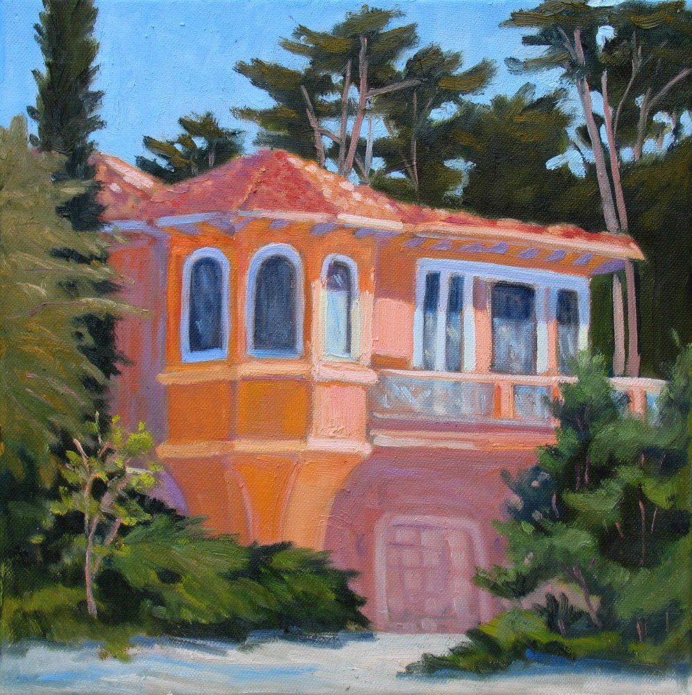 """House Under Cypress Trees"" original fine art by Rhett Regina Owings"