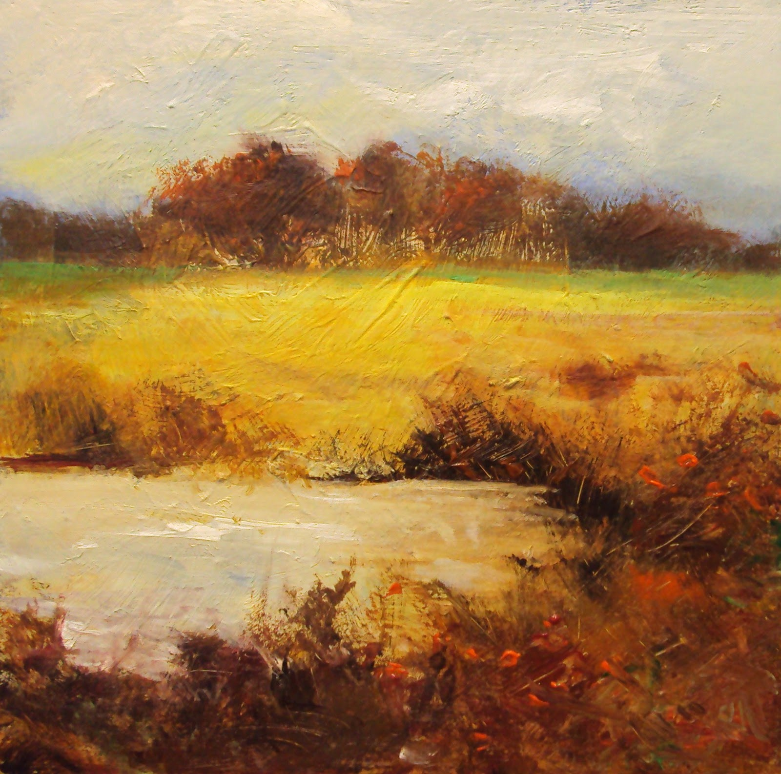 """Wylye in autumn"" original fine art by Parastoo Ganjei"