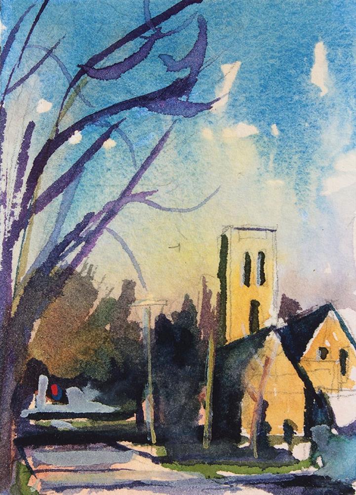 """Church on Milton Street"" original fine art by Chris Breier"