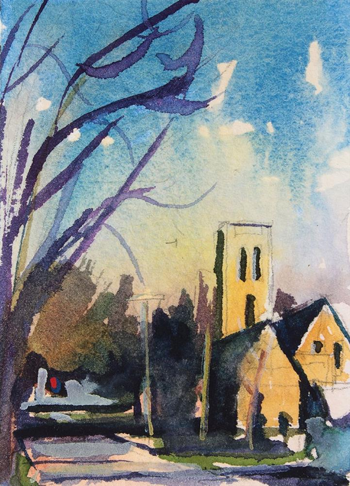 """Church on Milton Street"" original fine art by Chris Breier"