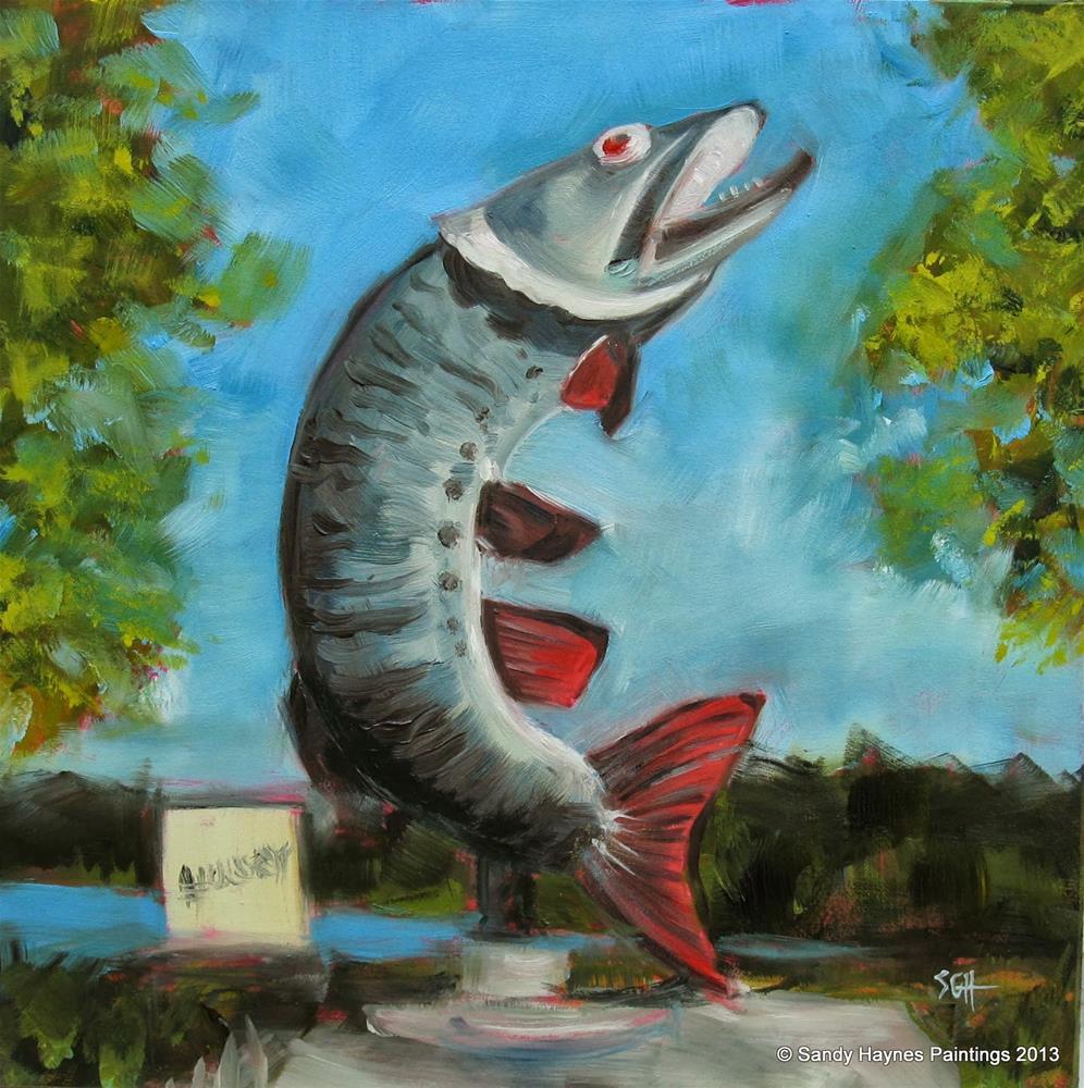 """Husky the Muskie... #144"" original fine art by Sandy Haynes"