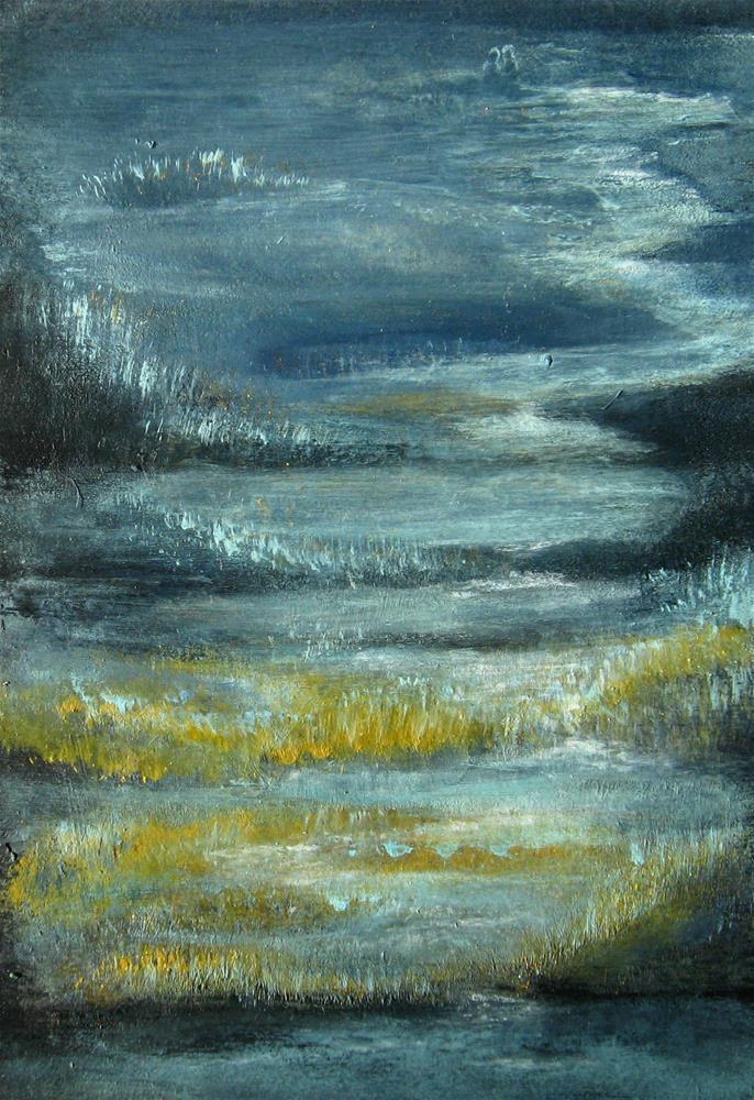"""Winter Night"" original fine art by Alina Frent"