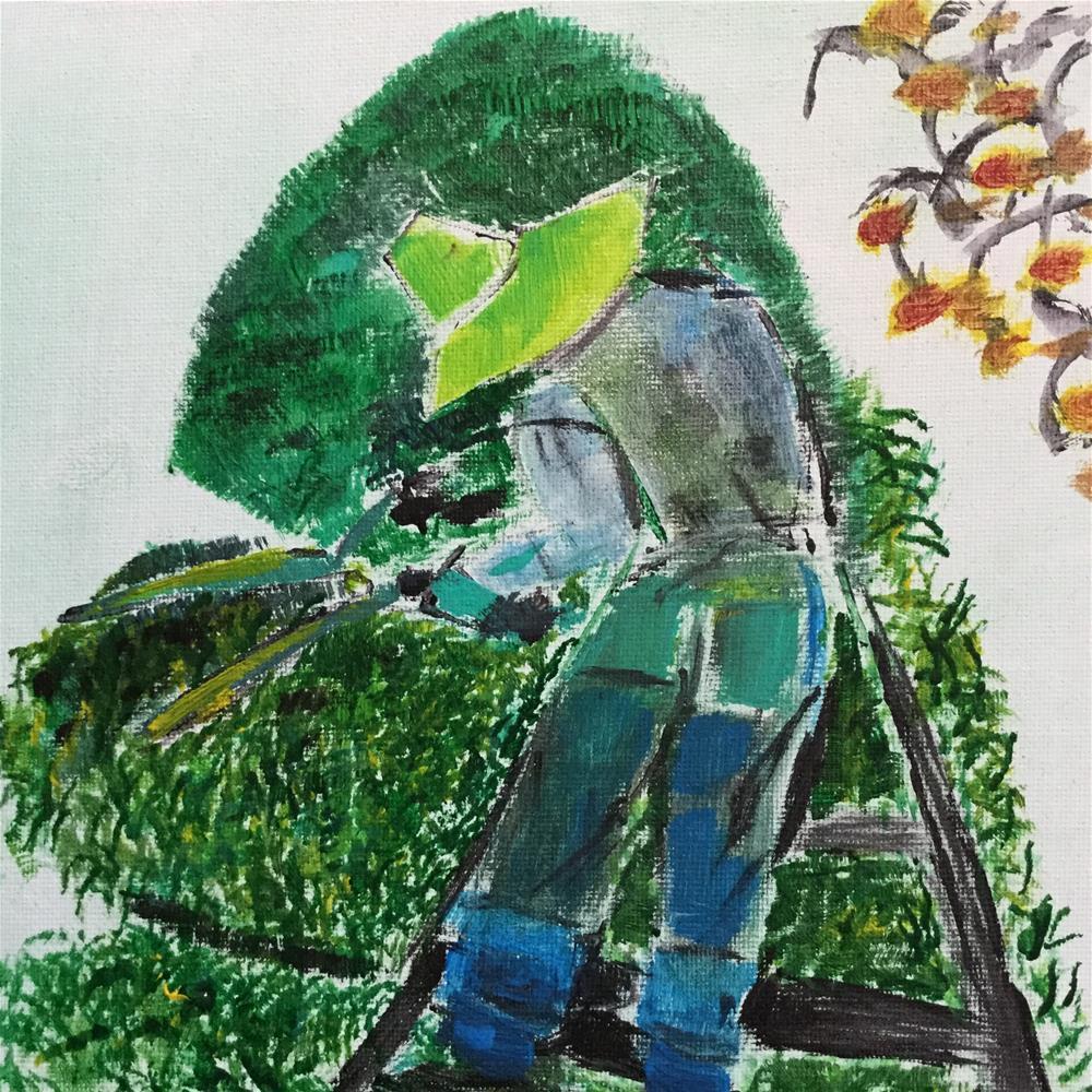 """Shorewood Farm"" original fine art by pamela kish"