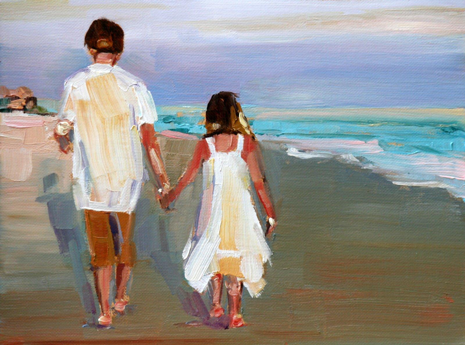 """hand in hand"" original fine art by Carol Carmichael"